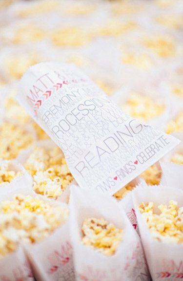 These programs also function as snack bags. Fill them with fresh popcorn or homemade cookies for a personal touch.