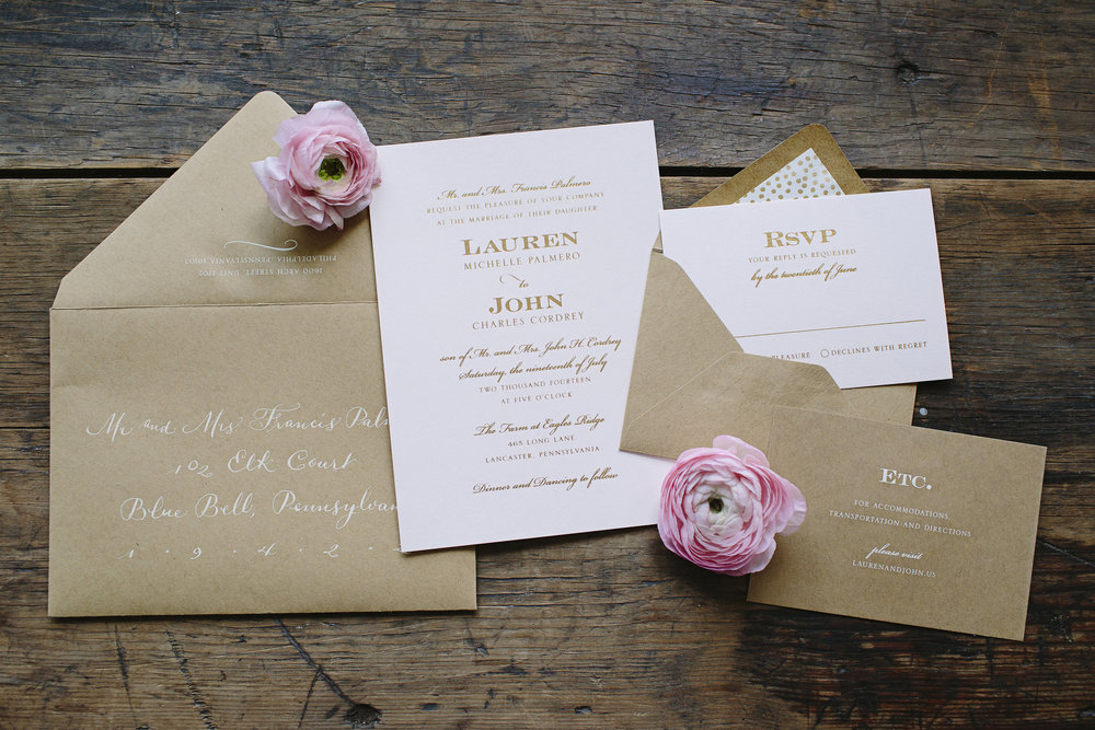 Invitation by the Papery / Styled Bride Wedding/ Photo by Brooke Courtney