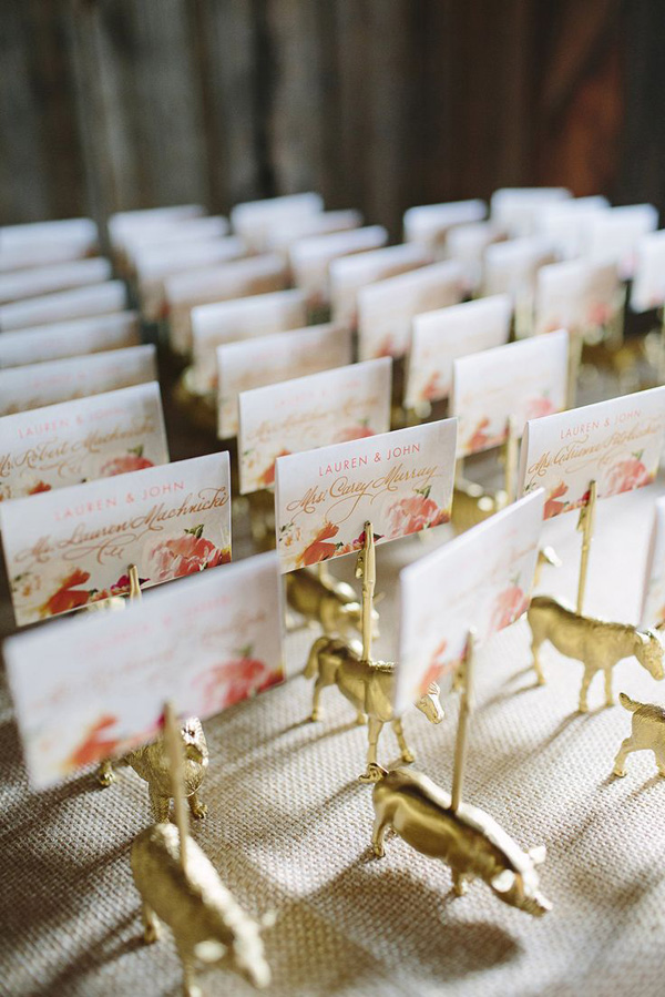 Styled Bride Wedding  / Escort Cards: Style Me Pretty