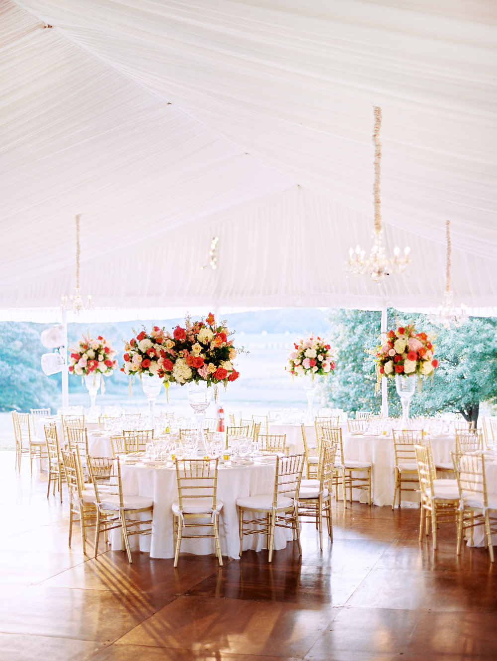 Photo by: Leo Patrone /  Florals: Beautiful Blooms /  Tent: EventQuip/  Lighting: Eventions Venue: Private Estate/ Rentals: Party Rentals LTD. / Styling & Planning: The Styled Bride