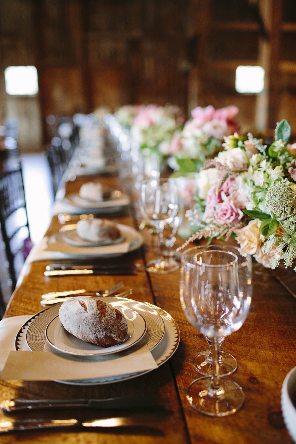 Photo: Brooke Courtney/ Florals: Sullivan Owen/ Catering: a(MUSE)/ Tables: Maggpie Vintage Rentals/ Tabletop: Party Rentals LTD./ Styling & Planning: The Styled Bride