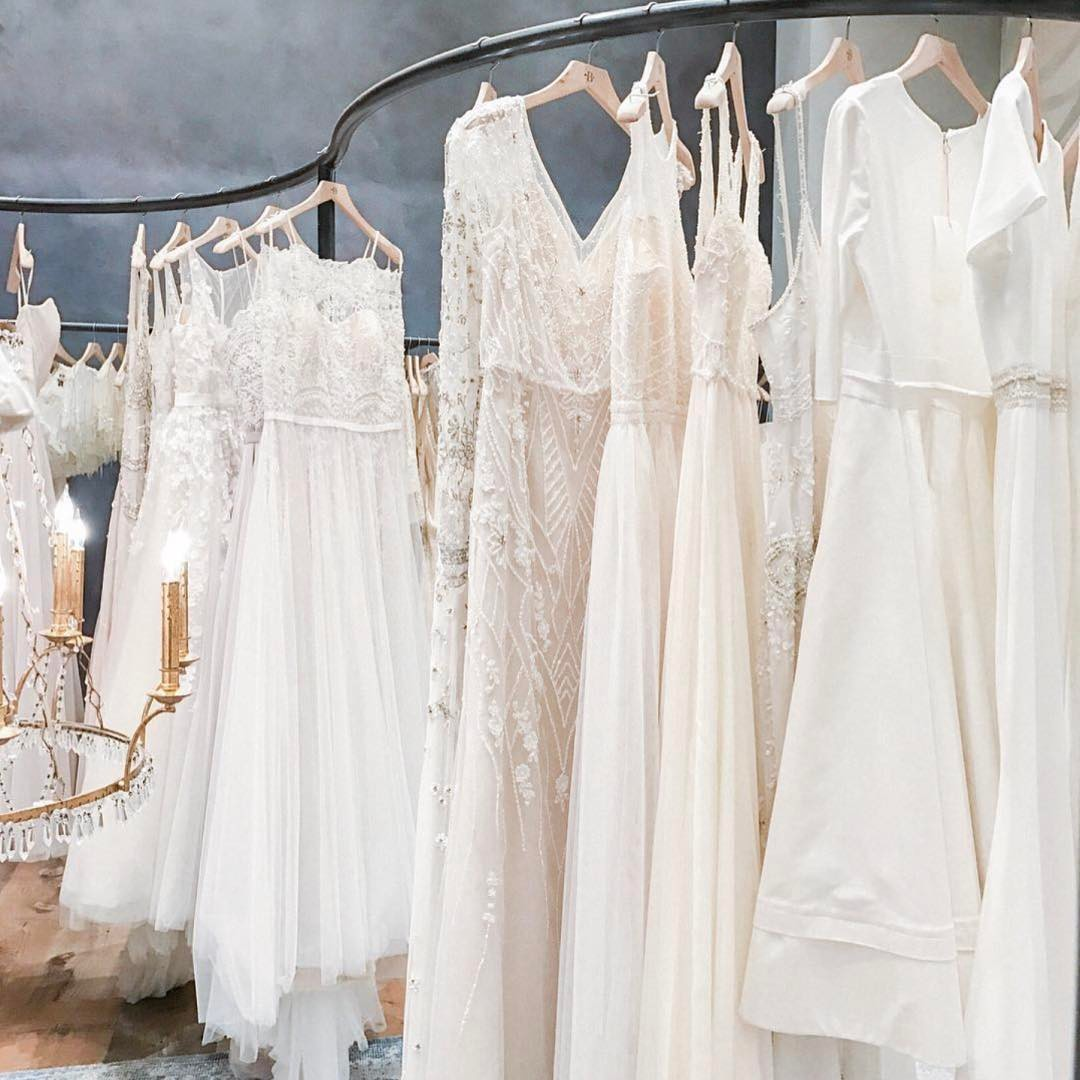 bhldn dress rack styled bride
