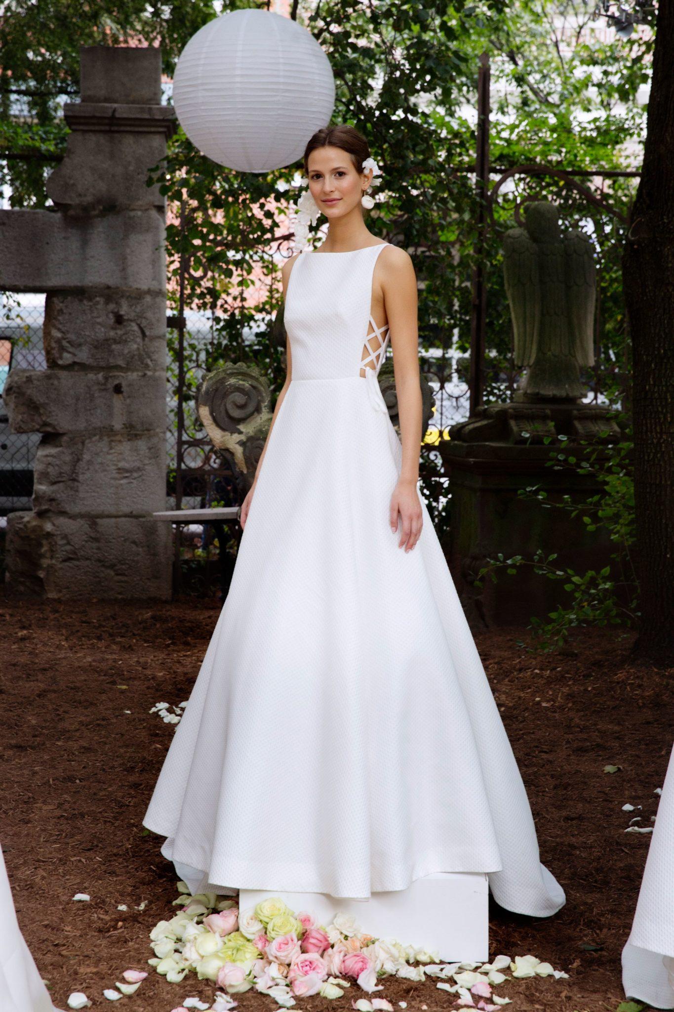 Bridal Fashion Week Fall 2018 High Neckline Wedding Dress | www.thestyledbride.com