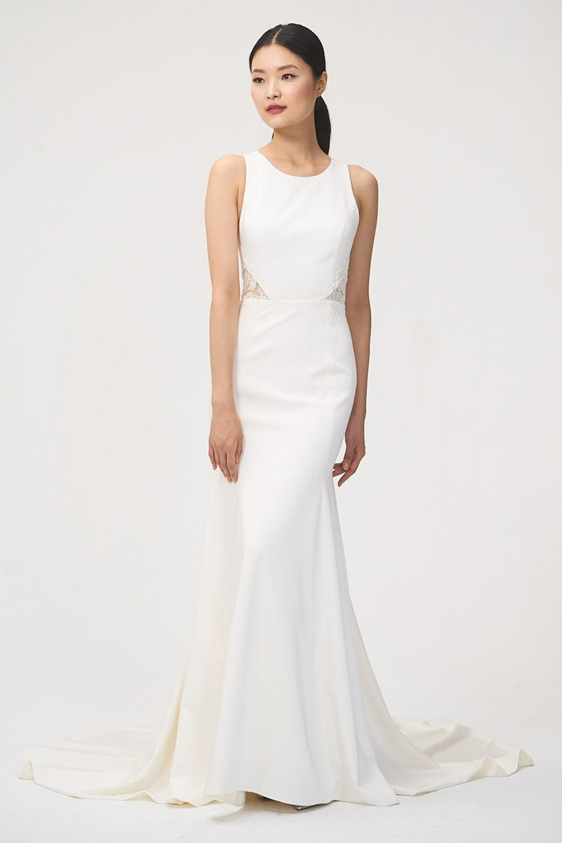 Bridal Fashion Week Fall 2018 High Neckline Wedding Dress | www.thestyledbride.com