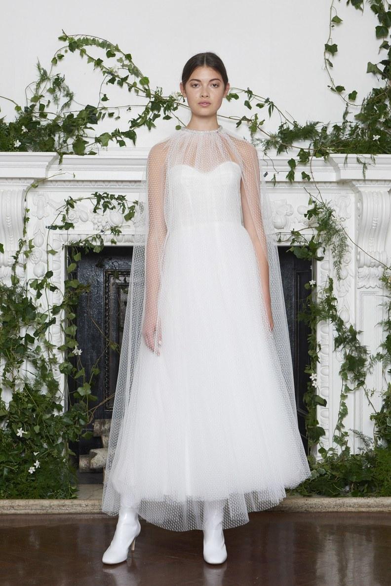Bridal Fashion Week Fall 2018 Cape Wedding Dress | www.thestyledbride.com