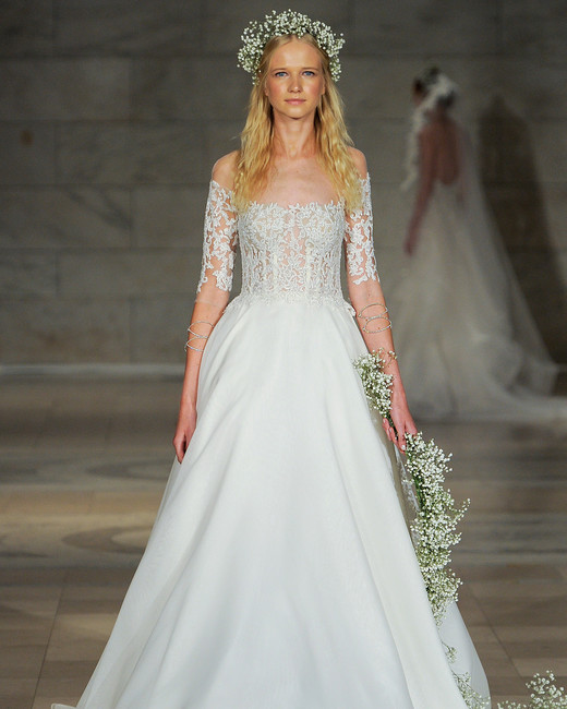Bridal Fashion Week Fall 2018 Off The Shoulder Wedding Dress | www.thestyledbride.com