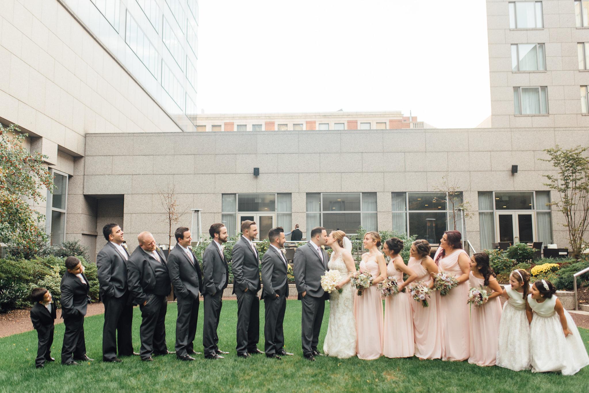 Blush, Violet, and Burgundy Wedding at The Logan Hotel Philadelphia | www.thestyledbride.com