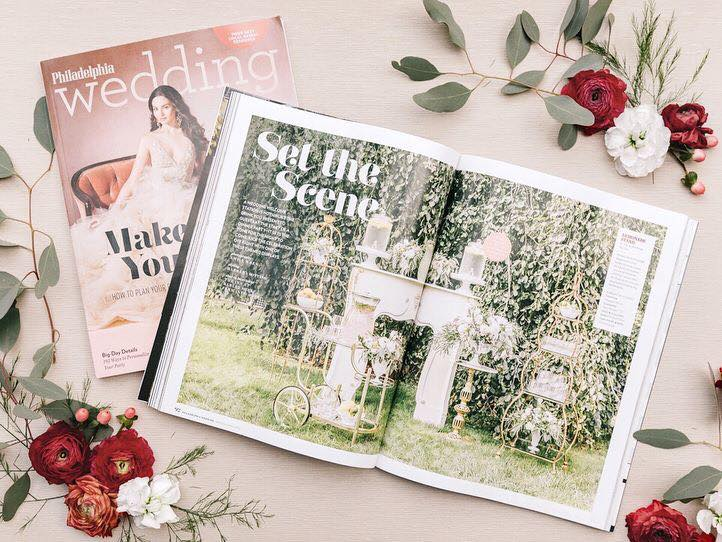 Philadelphia Wedding Magazine Wedding Welcome Station Feature | www.thestyledbride.com