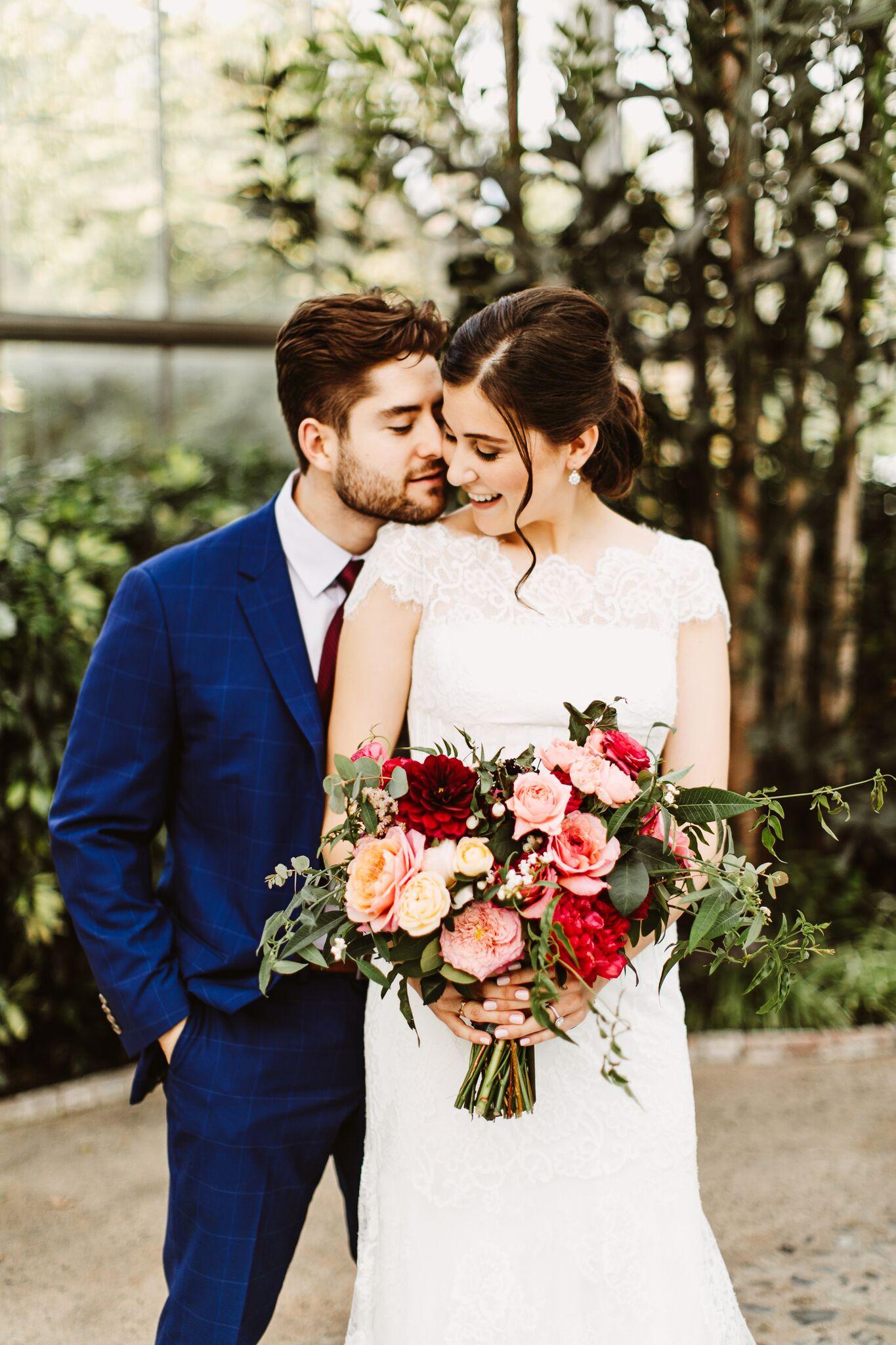 Pink and Red Philadelphia Horticulture Center Wedding | www.thestyledbride.com