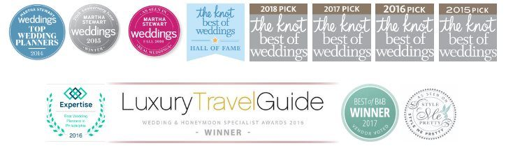 Awards won by The Styled Bride Philadelphia Wedding Planner