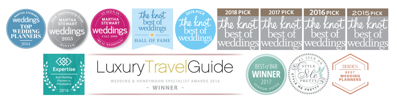 Philadelphia Wedding Planner - Awards won by The Styled Bride Philadelphia Wedding Planner