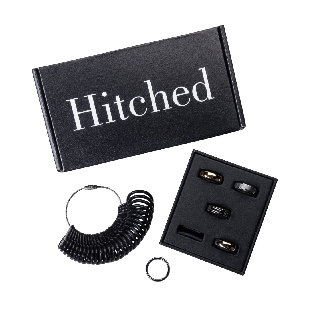 Shop for your wedding band online with Philadelphia brand Hitched | www.thestyledbride.com