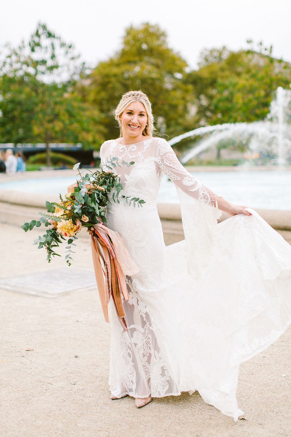 October Wedding in Philadelphia at Moulin by The Styled Bride and Redfield Photography | www.thestyledbride.com