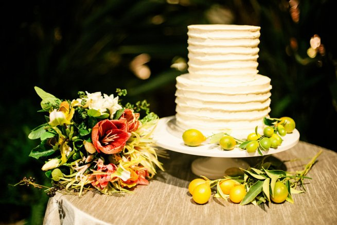 cake horticultural center styled bride