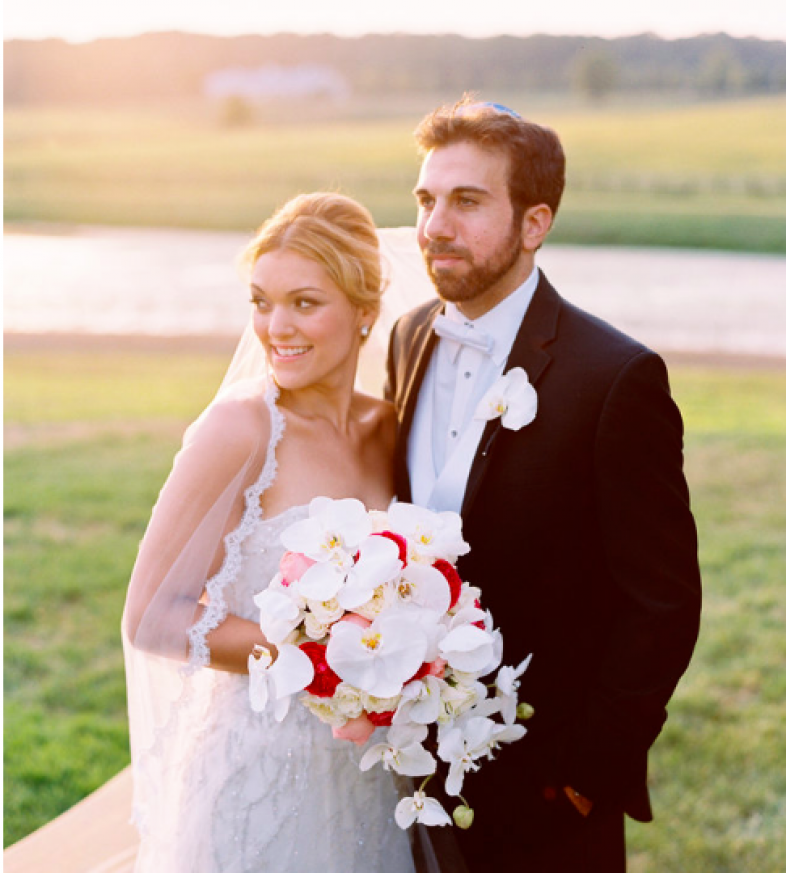 sunset couple styled bride